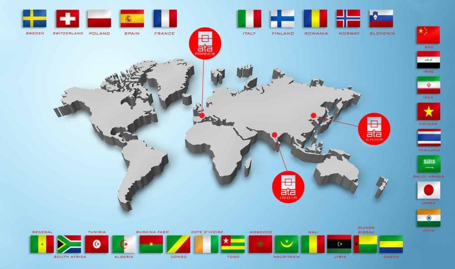 La presencia de ATA en todo el mundo